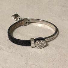Guess Black Leather Bracelet
