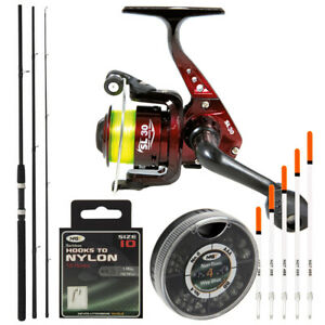 Complete NGT Beginner Float Fishing 10ft Rod And Reel Tackle Match Set Hooks