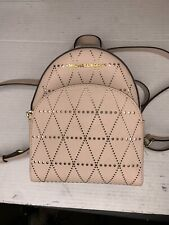 Michael Kors Saffiano Leather Abbey XS Backpack Purse Pink