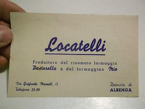 BIGLIETTO LOCATELLI ( FORMAGGIO PASTORELLA E MIO ) DEPOSITO DI ALBENGA 4-95