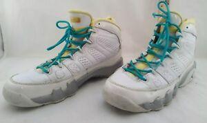 Air Jordan shoes Retro 23 White turquoise lemon size 5Y Initiator vintage
