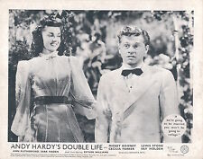 ANDY HARDY'S DOUBLE LIFE ORIGINAL LOBBY CARD MICKEY ROONEY ANN RUTHERFORD