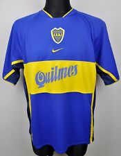 BOCA JUNIORS Home 2001 Shirt Adult Large Men's Jersey L Blue Trikot Argentina