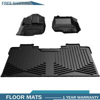 Black Front Rear Floor Mats Floor Liners for 2015 2016 2017 2018 Ford F150