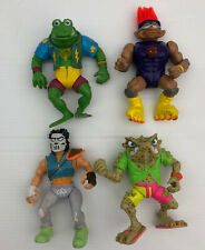 Lot of 4 vintage TEENAGE MUTANT NINJA TURTLES Figure MIRAGE loose villains