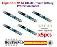 5pcs 1S 3.7V 3A li-ion BMS PCM battery protection board 18650 lithium battery
