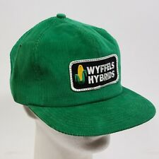 Vintage Wyffels Hybrids Hat K Products Logo Patch Made In Usa Corduroy