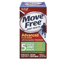 NEW SCHIFF MOVE FREE JOINT HEALTH GLUCOSAMINE CHONDROITIN PLUS MSM 120 TABLETS