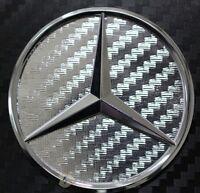 Carbon Folie Chrom Mercedes Stern Lenkrad Emblem Ecken MB - AMG E190 NEU 46mm