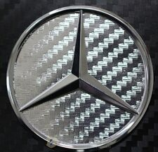 Carbon Chrom Mercedes Stern Lenkrad Emblem Ecken MB - AMG E190 NEU 46mm
