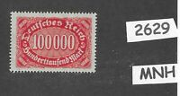 #2629   MNH Stamp 100,000 Marks / Large Numeral / Germany  / 1922 - 1923   Sc209
