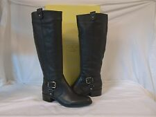 Circa Joan & David 5 M Renya Black Leather Knee High Boots New Womens Shoes