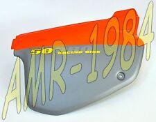 PANEL LATERAL DERECHO NARANJA - GRIGIO APRILIA RX - MX 50 cc 95 - 03 AP8238787