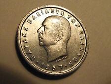 #2100 Greece; 1 Drachma 1957 High Grade Coin
