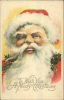 Christmas - Santa Claus Closeup of Face Karle Quality c1915 Postcard
