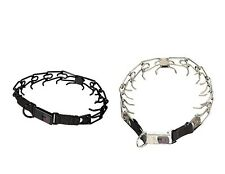 Herm Sprenger Stainless Steel Prong Dog Collar with Security Buckle Safe
