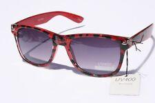 Red Leopard Retro Vintage SUNGLASSES gradient lens UV400