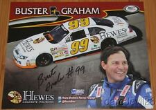 2014 Buster Graham signed Hewe's Concrete Polishing Ford Fusion ARCA postcard