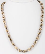 STERLING SILVER TAXCO TWO TONE CHAIN NECKLACE MEXICO 925 0258B