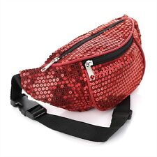 Red Sequin Bum Bag/ Fanny Pack - Festivals/ Clubbing/ Holidays