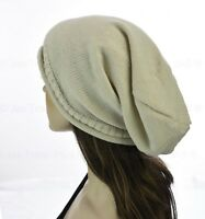 1 Knit Knitted Unisex Ladies Men Cap Slouchy Baggie Baggy Rasta Beanie Hat Plain