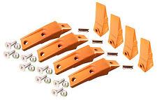 4 - Bobcat Style Skid Steer Bucket Teeth w/ Bolt On Shanks, Pins, & Hardware