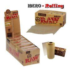 Caja de papel de fumar RAW Rolls, rollo de papel sin blanquear natural