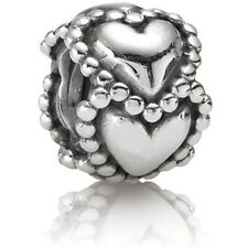 Authentic Pandora Silver #790448 Everlasting Love Hearts slide Bead Charm NWOT