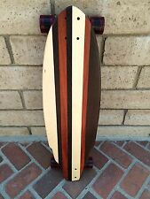 """Longboard made of Solid Wood - """"Red Tide Pismo"""" with bloodwood"""