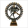 Shiva tanzend Nataraja Messing 29cm 2,2kg graugold Hinduismus Ganesha Natraja
