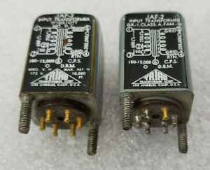Pair Triad JAF-2 Input Line MC MM Phono Stepup Audio Transformers Gold Pins Nice