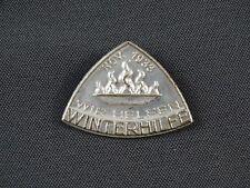 WHW Abzeichen Gau Sachsen Metall November 1933 - Wir Helfen
