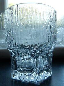 "Vintage Littala Tapio Wirkkala ASLAK Dbl Old Fashioned Whisky Tumbler Glass 4"""