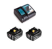 MAKITA 2 batteria 18v 3ah lxt originale con led BL1830B + carica DC18RC
