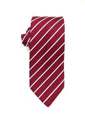 $325 HUGO BOSS Men's ITALY RED WHITE STRIPE DRESS SILK SKINNY SLIM NECKTIE 58x3