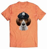 Beagle Dog in Police Officer Hat - T-Shirt, Fox Republic Tee