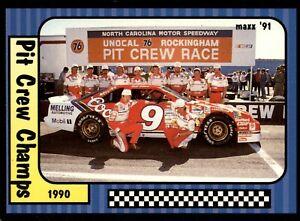 1991 Maxx NASCAR #50 of 240 Pit Crew Champs - Bill Elliott