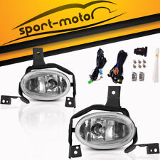 for 2010 2011 Honda CR-V CRV Clear Front Bumper Fog Light Lamp+Switch+Wiring Kit