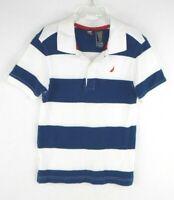 NEW Nautica Baby Short Sleeve Multi Stripe Cotton Polo Shirt Short Sleeve Sz 18m