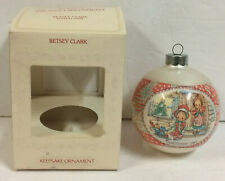 Vintage Betsey Clark Hallmark Glass Ball Ornament Original Box 1981