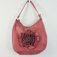 [ ZIERA ] Womens Faux Leather Shoulder Bag / Handbag w/ Flower detail