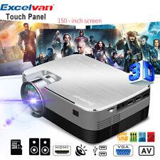 Excelvan 3200LM LED Heimkino Beamer 1080P HDMI VGA AV USB TF PS4 For Home Cinema