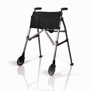 Stander EZ Fold-N-Go Walker, Lightweight Folding 2 Wheel Rolling Walker 🔱