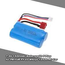 7.4V 1500mAh Battery with T Plug for FEIYUE FY-03 Wltoys 12428 RC Car H0O4