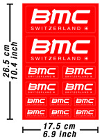 BMC Switzerland Decals Stickers Bicycle Graphics Autocollant Aufkleber /651