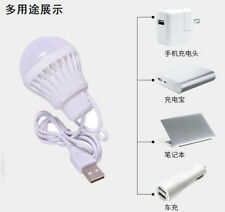 USB bulb 5V low-voltage light led energy-saving rechargeable emergency bulbs 3W