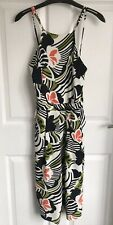 Ladies Coloured/Patterned River Island Cropped Strap Playsuit - Size 6/8