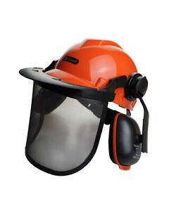 Chainsaw Brushcutter Safety Helmet Complete With Metal Mesh Full Visor