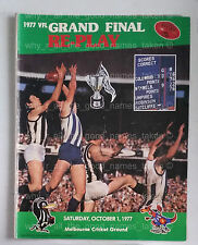 VFL Football Record 1977 GRAND FINAL Replay N MELB KANGAROOS Souvenir Program [b