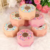 10×Donut Chocolate Candy Box Kids Birthday Party Hexagon Gift Box Wedding Favors